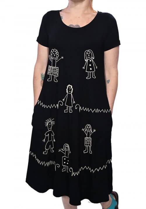 Vestidos bordados a mão - Bordado Meninas